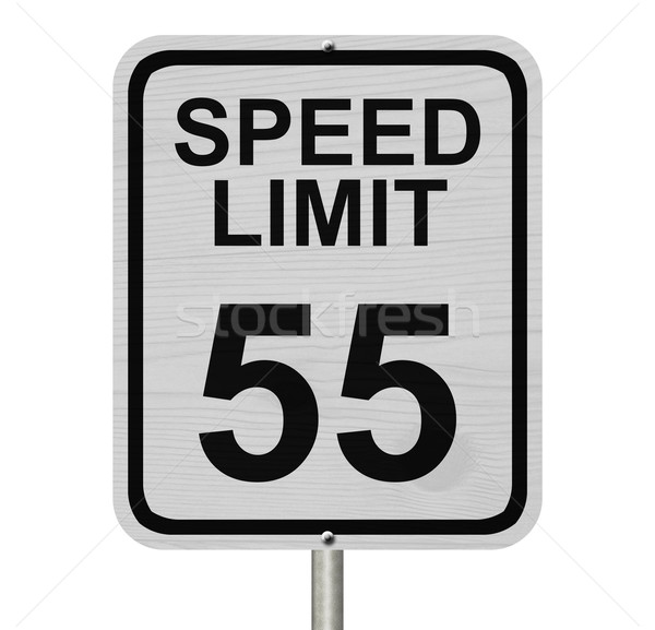 Speed Limit 55 Sign Stock photo © karenr