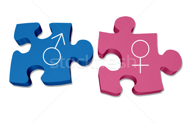 Understanding men and women interaction and relationships Stock photo © karenr