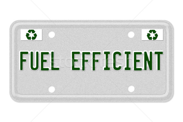Fuel Efficient Car  License Plate Stock photo © karenr