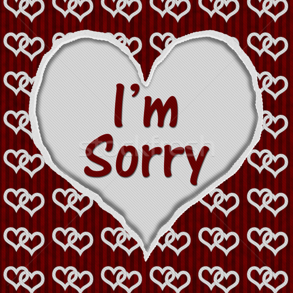 I'm Sorry Message Stock photo © karenr