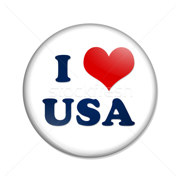 I love USA button Stock photo © karenr
