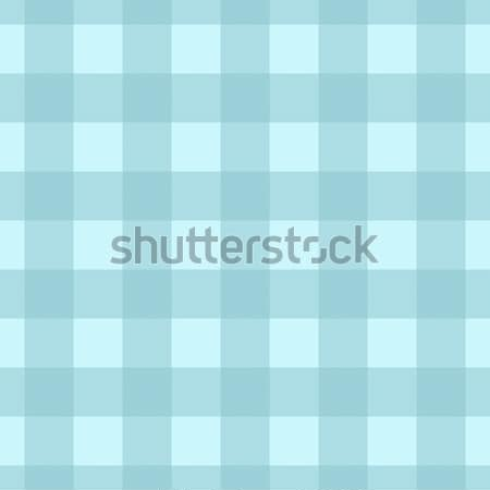 Teal Plaid Striped Lumberjack Textured Fabric Background Stock photo © karenr