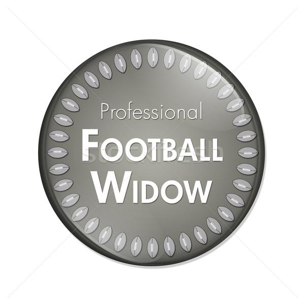 プロ サッカー 未亡人 ボタン 青 白 ストックフォト © karenr