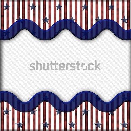 Vaderlandslievend sterren gescheurd exemplaar ruimte bericht Stockfoto © karenr