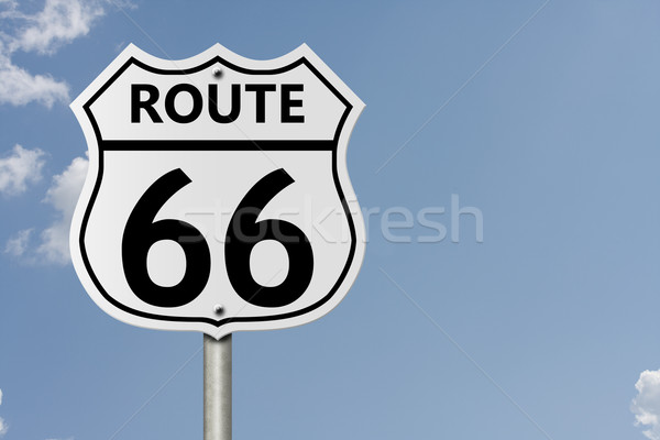 Route 66 interstate panneau routier nombre Photo stock © karenr