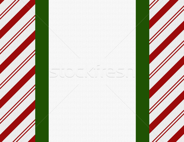 Red, Green and White Christmas Frame for your message or invitat Stock photo © karenr