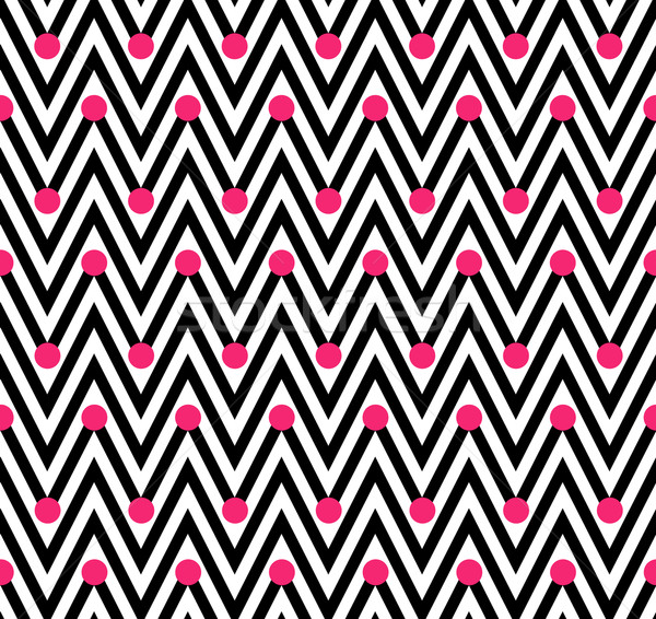 Zwart wit horizontaal gestreept naadloos papier Stockfoto © karenr
