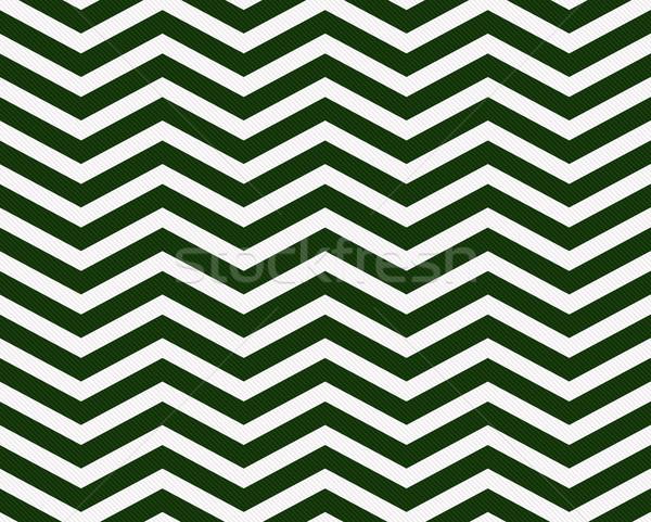 Buio verde bianco zig-zag tessuto Foto d'archivio © karenr