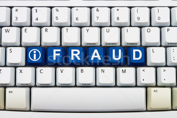 Informação on-line fraude teclas palavra Foto stock © karenr