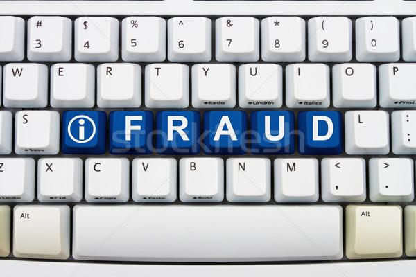 Informatie online bedrog sleutels woord Stockfoto © karenr