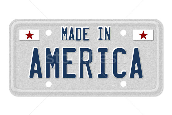 Stock photo: Made in America License Plate