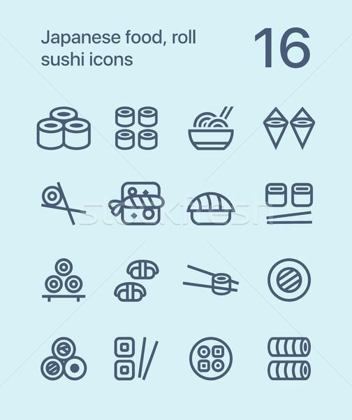 Sushis icônes web app Photo stock © karetniy