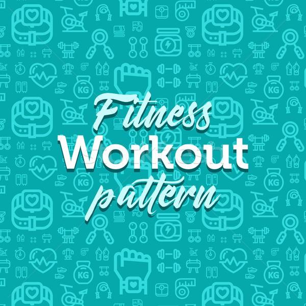 Fitness modèle illustration vecteur simple Photo stock © karetniy