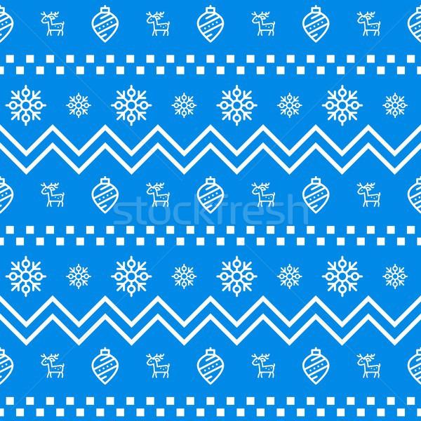 Stock fotó: új · év · ikon · gyűjtemény · végtelenített · geometrikus · minta · tél · ünnepek