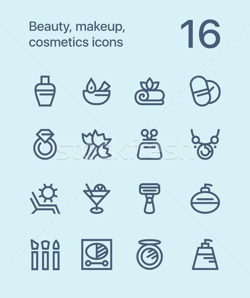 красоту косметики макияж иконки веб Сток-фото © karetniy