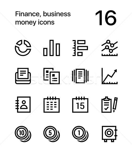 Stockfoto: Financieren · business · geld · iconen · web · mobiele