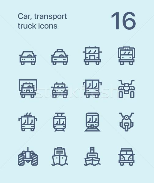 Foto d'archivio: Contorno · auto · trasporto · veicolo · camion · treno