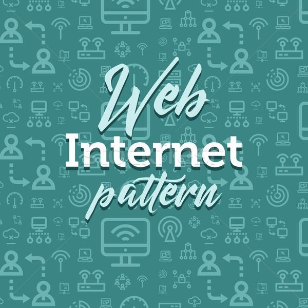 Internet modèle illustration vecteur simple Photo stock © karetniy