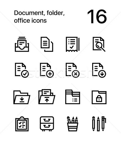 документа папке служба иконки веб мобильных Сток-фото © karetniy