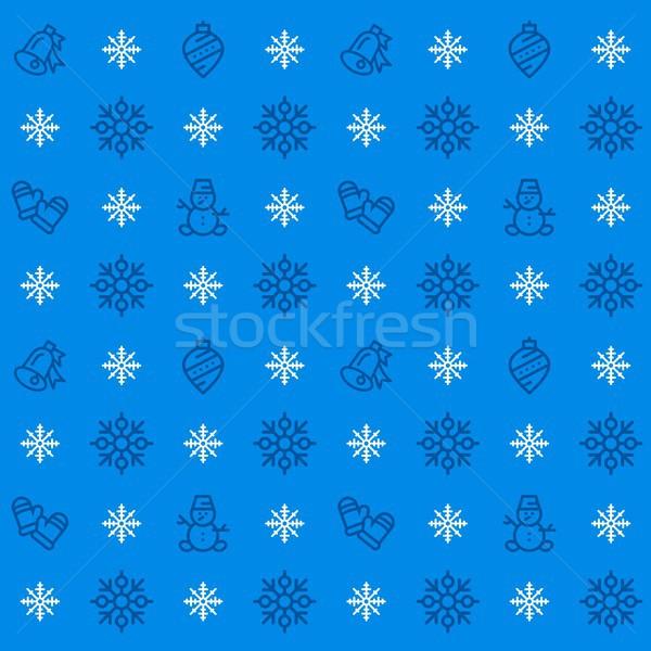 Новый год зима праздников иконки Сток-фото © karetniy