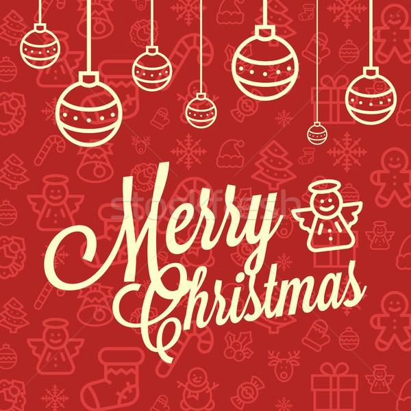 Рождества красный желтый зима Сток-фото © karetniy