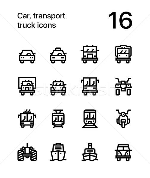 Autó szállítás jármű teherautó vonat vektor Stock fotó © karetniy