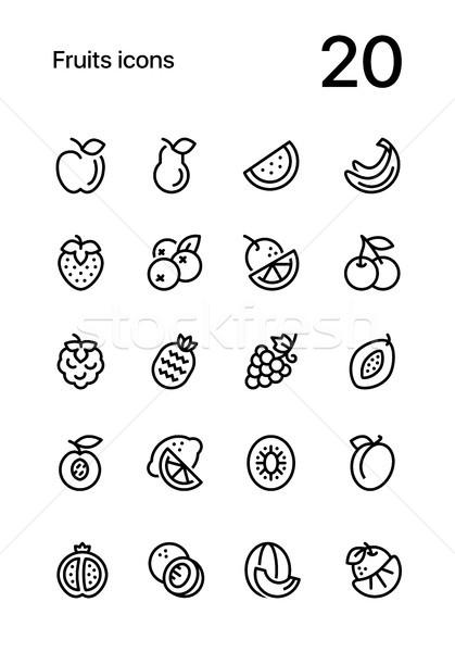 плодов продовольствие линия вектора веб Сток-фото © karetniy