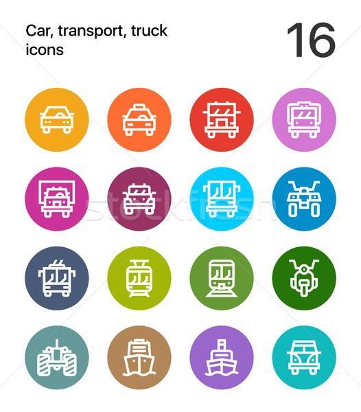 красочный автомобилей транспорт автомобиль грузовика поезд Сток-фото © karetniy