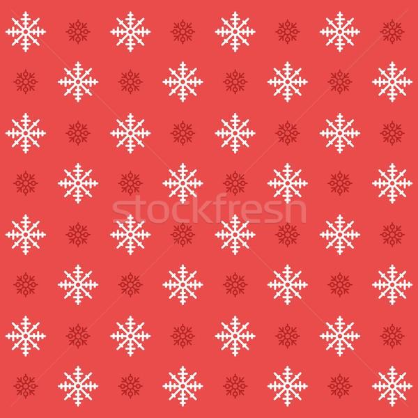 Stock fotó: Karácsony · ikon · gyűjtemény · végtelenített · hópehely · minta · ikonok