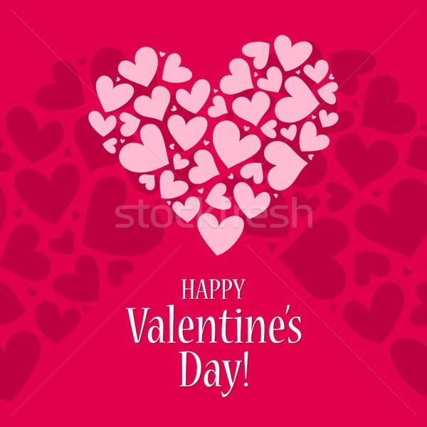 счастливым карт красный розовый сердце Сток-фото © karetniy