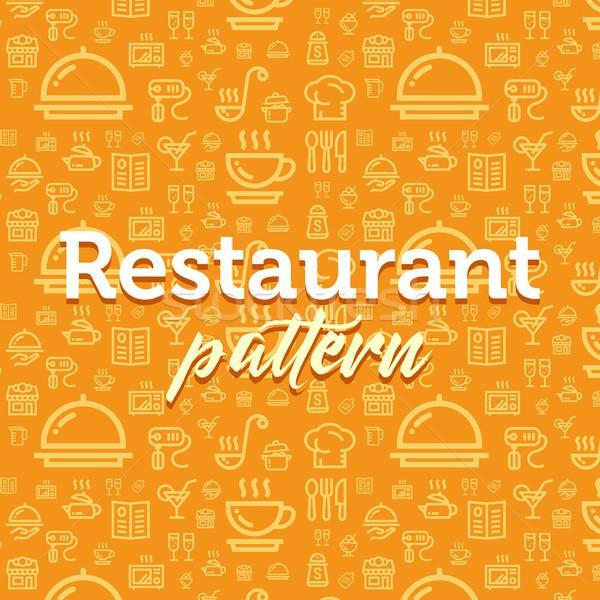 Restaurant modèle illustration vecteur simple Photo stock © karetniy