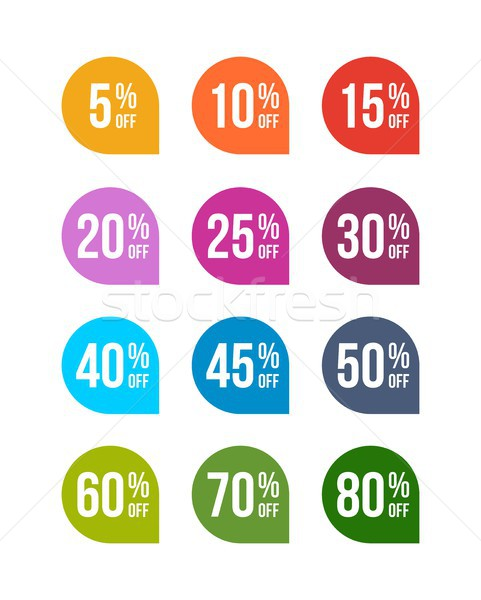 Sale off colored badges tag discount symbol retail sticker sign price pack Stock photo © karetniy