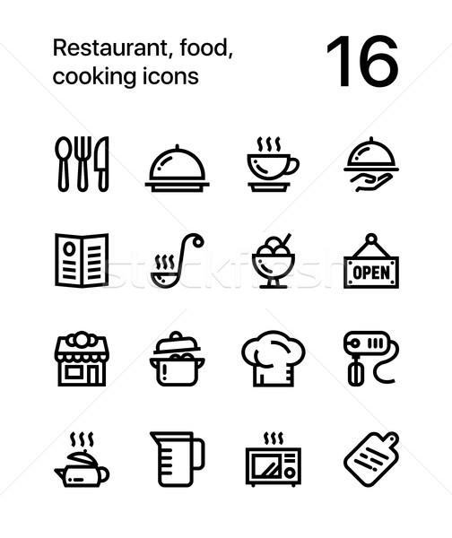 приготовления иконки веб мобильных дизайна Сток-фото © karetniy