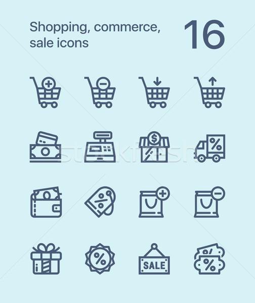 торговых торговли продажи иконки веб Сток-фото © karetniy