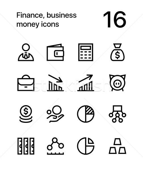 Pénzügy üzlet pénz ikonok háló mobil Stock fotó © karetniy