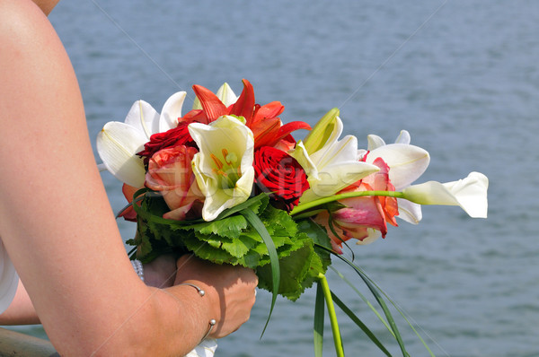Bouquet mariée blanche fleur design Photo stock © karin59