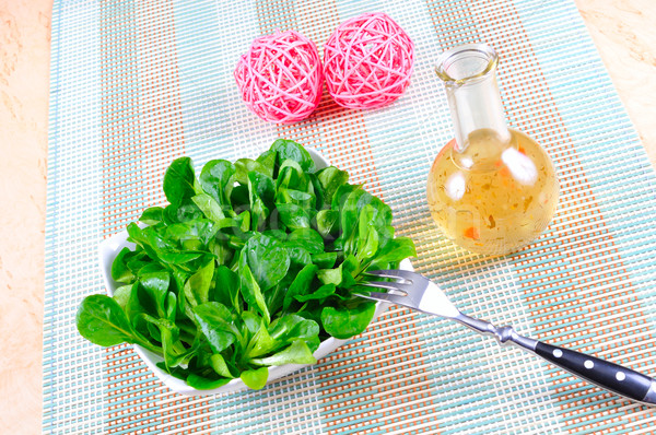Maïs salade herbe pansement vert citron Photo stock © karin59