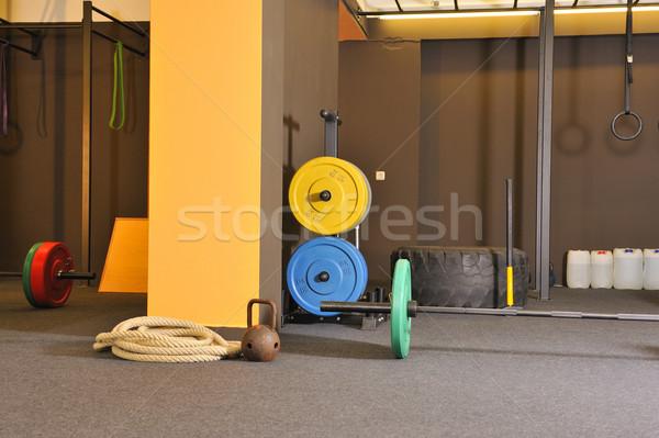 Crossfit fitnessz tornaterem test izom erő Stock fotó © karin59