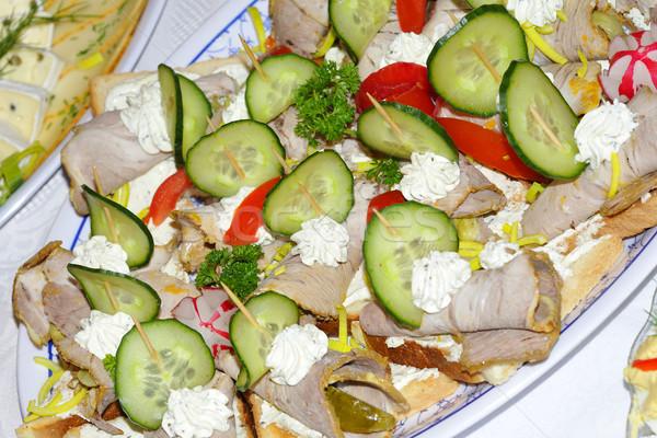 食品 結婚式 パン チーズ プレート サービス ストックフォト © karin59