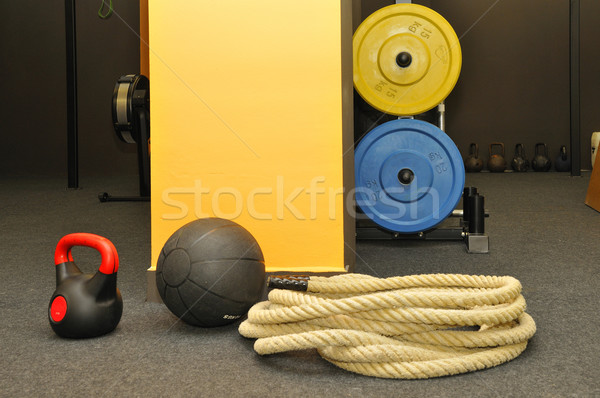 Crossfit fitness gymnase corps muscle pouvoir Photo stock © karin59