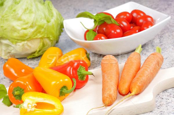 овощей различный кухне продовольствие нефть Салат Сток-фото © karin59