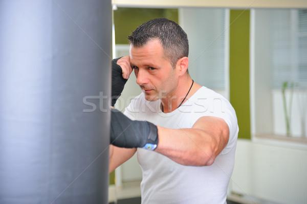 Boxeur formation corps personne Rechercher Photo stock © karin59