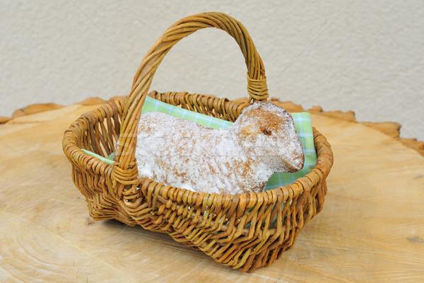Pâques agneau alimentaire gâteau moutons Photo stock © karin59