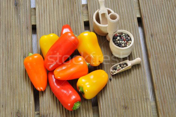 Mini poivrons table alimentaire fruits orange Photo stock © karin59