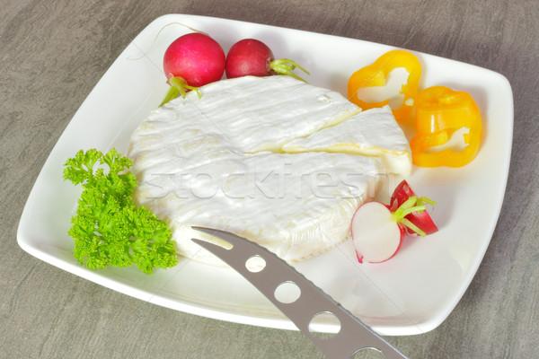 Français soft fromages plaque alimentaire cuisine Photo stock © karin59
