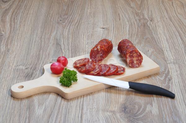 Italien salami planche à découper viande cuisson manger Photo stock © karin59