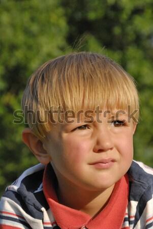 Sceptique vue portrait tête Photo stock © karin59