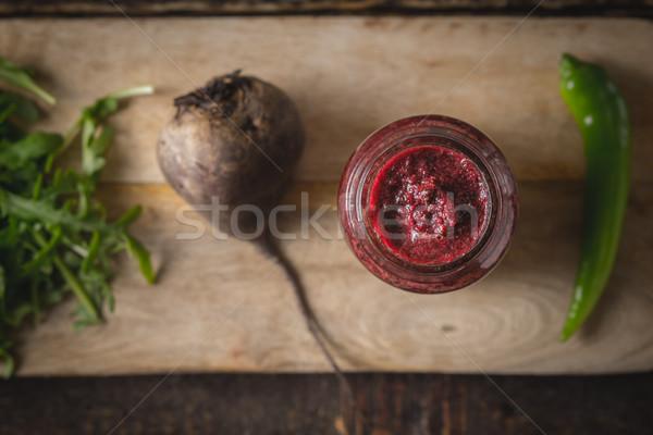野菜 スムージー ぼやけた 材料 木板 先頭 ストックフォト © Karpenkovdenis