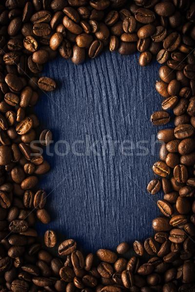 Kahve çekirdeği çerçeve karanlık dikey kahve doğa Stok fotoğraf © Karpenkovdenis