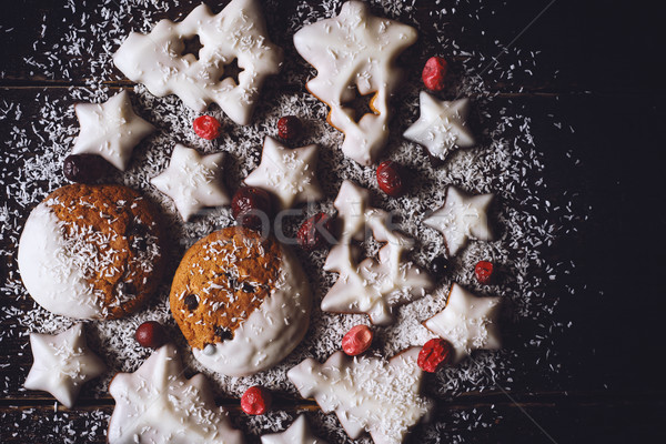 クリスマス ボール クッキー 液果類 木製 デザイン ストックフォト © Karpenkovdenis